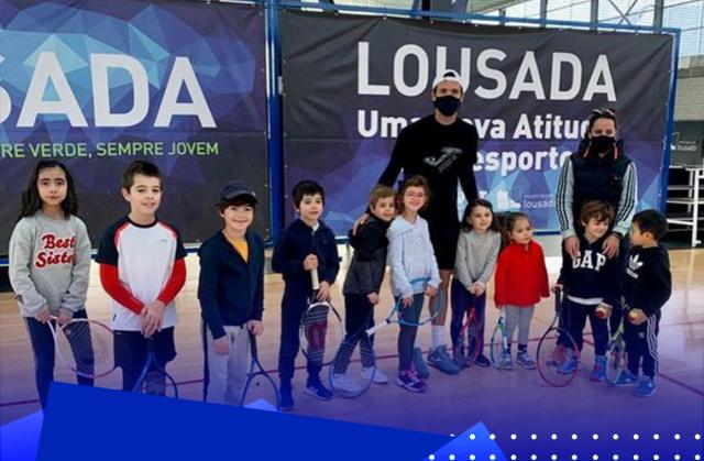 João Sousa visitou Lousada TA e surpreendeu os pequenos tenistas