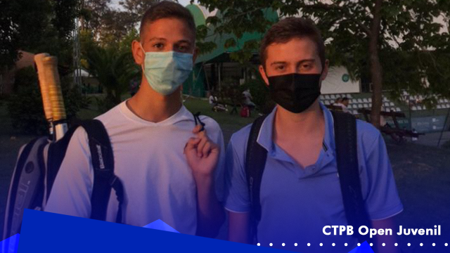 Afonso Camelo e Rodrigo Barros jogaram o Torneio CTPB Open Juvenil